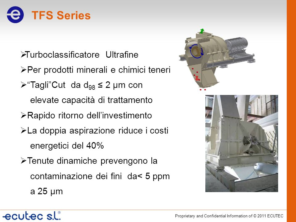 TFS Series Turboclassificatore Ultrafine