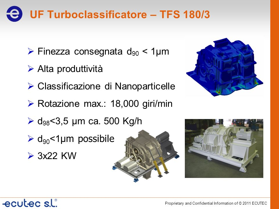 UF Turboclassificatore – TFS 180/3