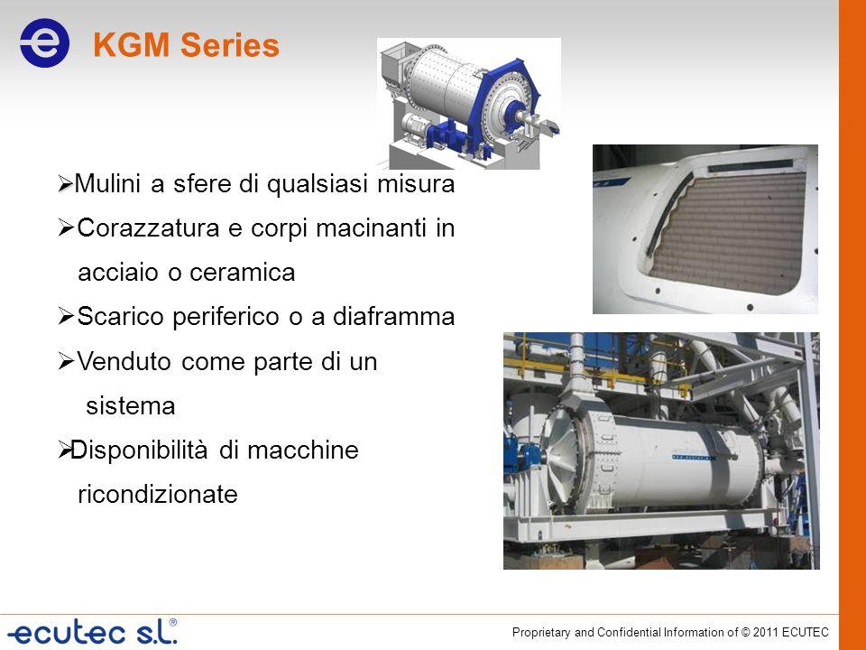 KGM Series Corazzatura e corpi macinanti in acciaio o ceramica