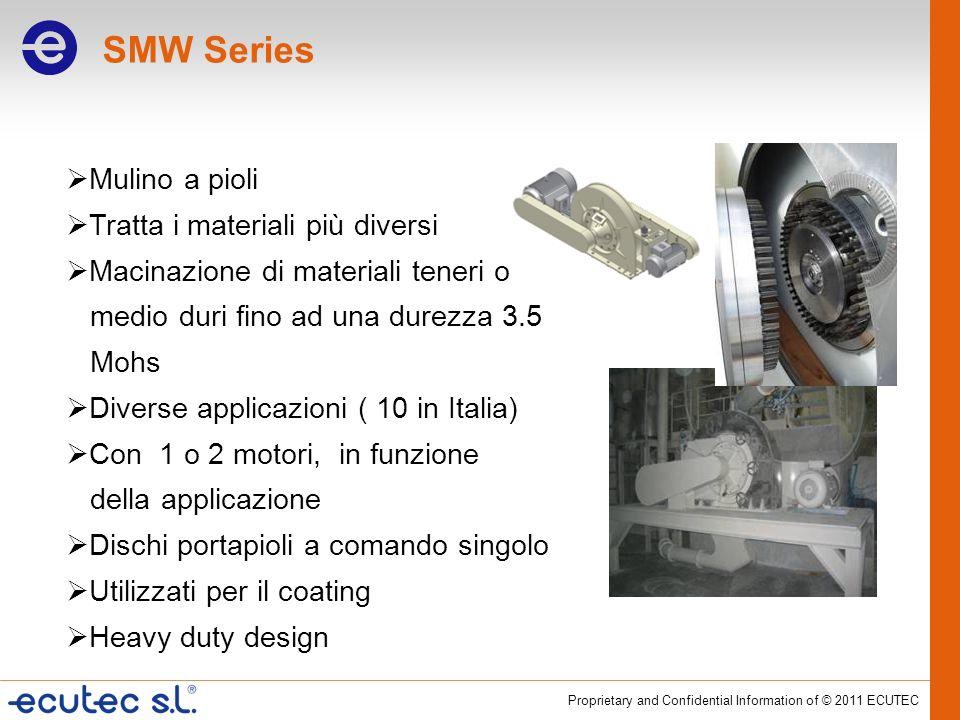 SMW Series Mulino a pioli Tratta i materiali più diversi