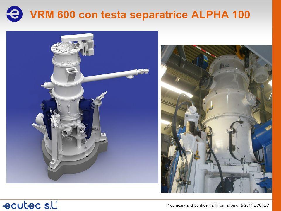 VRM 600 con testa separatrice ALPHA 100