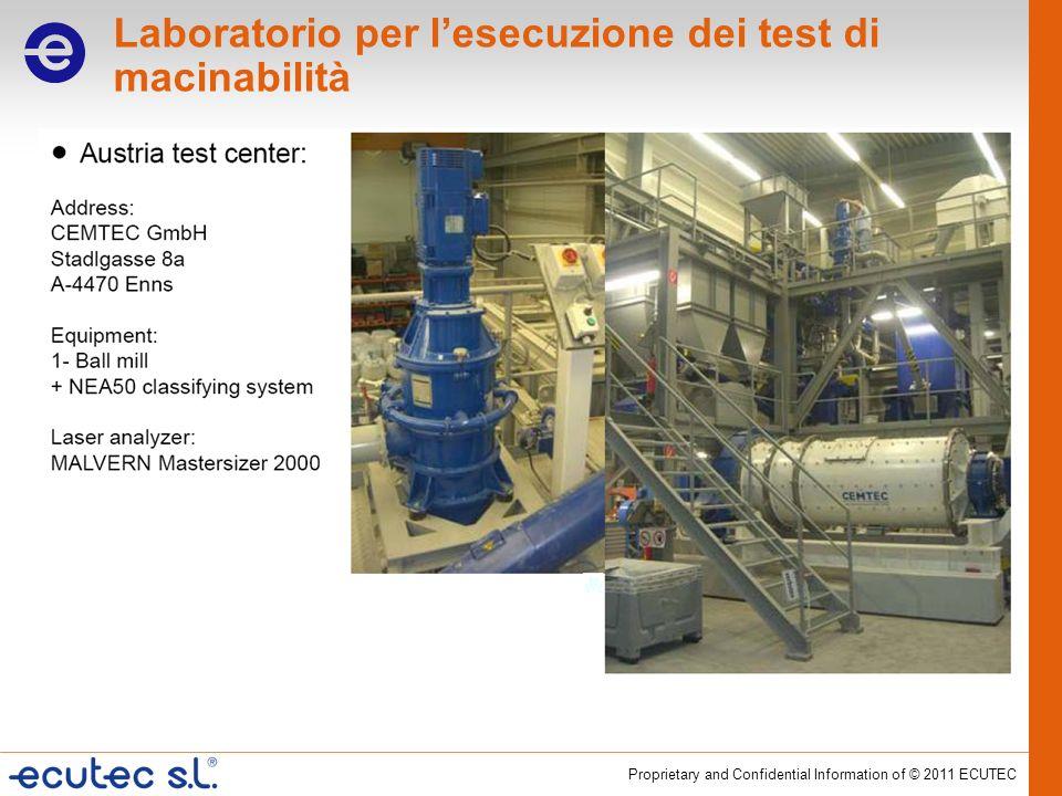 Laboratorio per l'esecuzione dei test di macinabilità