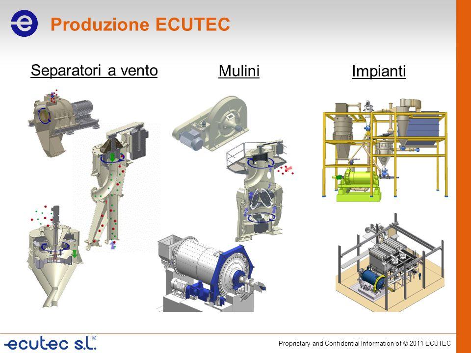 Produzione ECUTEC Separatori a vento Mulini Impianti