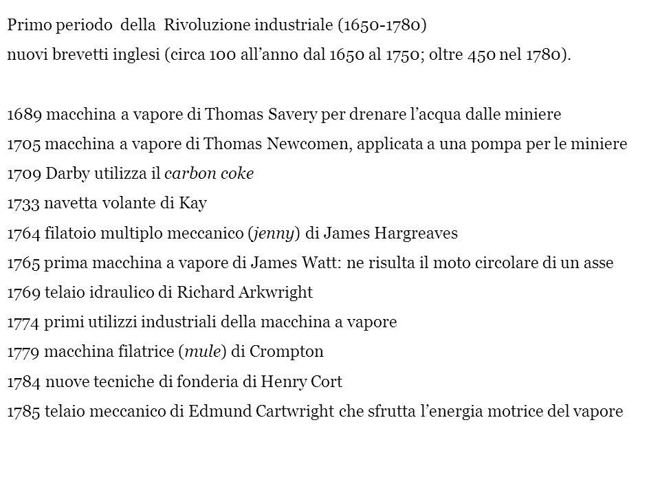 Primo periodo della Rivoluzione industriale (1650-1780)