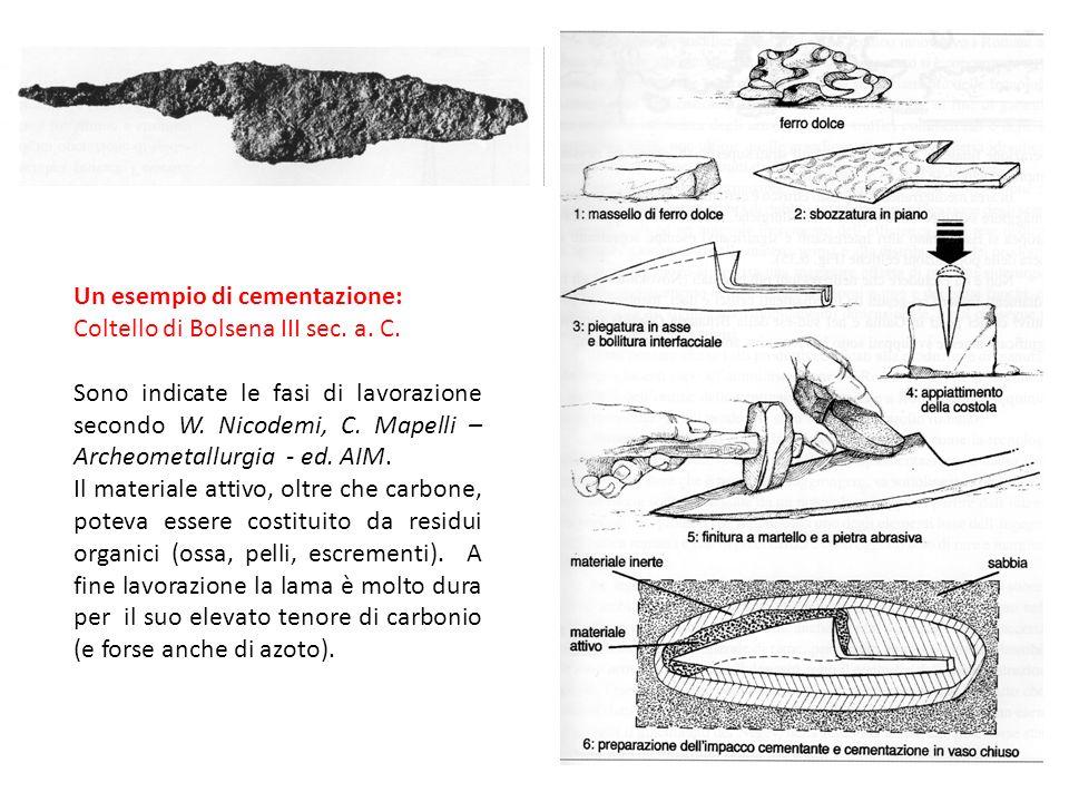 Un esempio di cementazione: Coltello di Bolsena III sec. a. C.