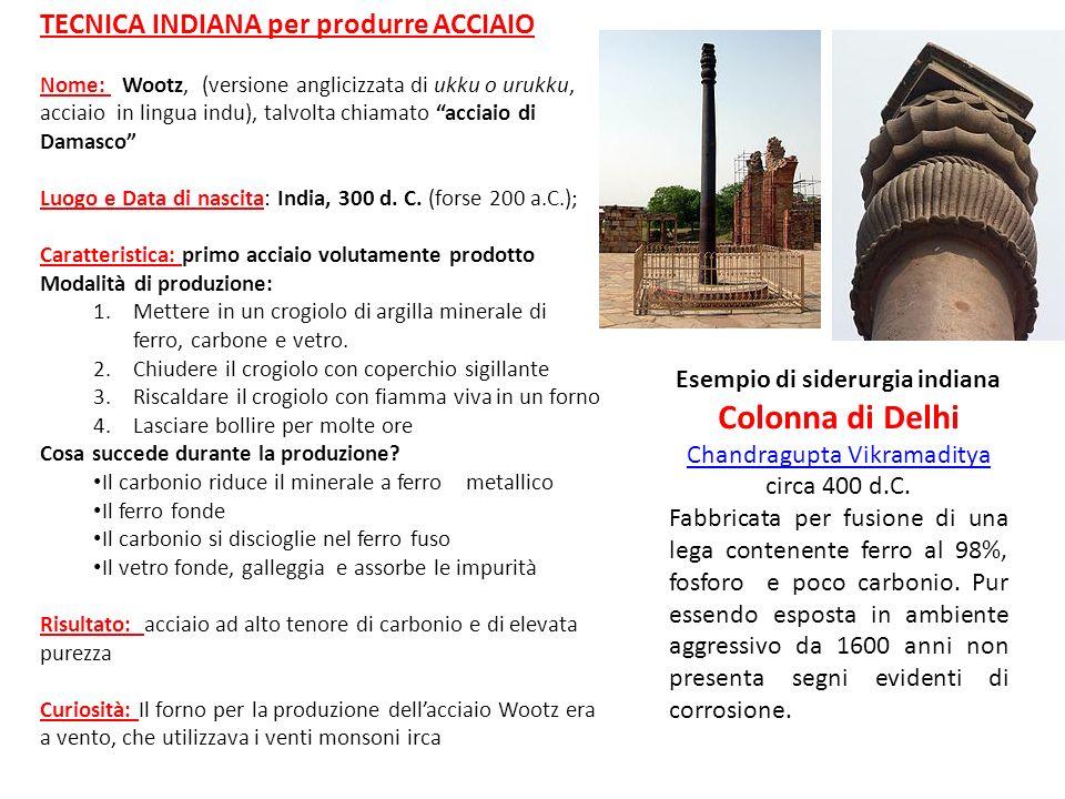 Esempio di siderurgia indiana Colonna di Delhi