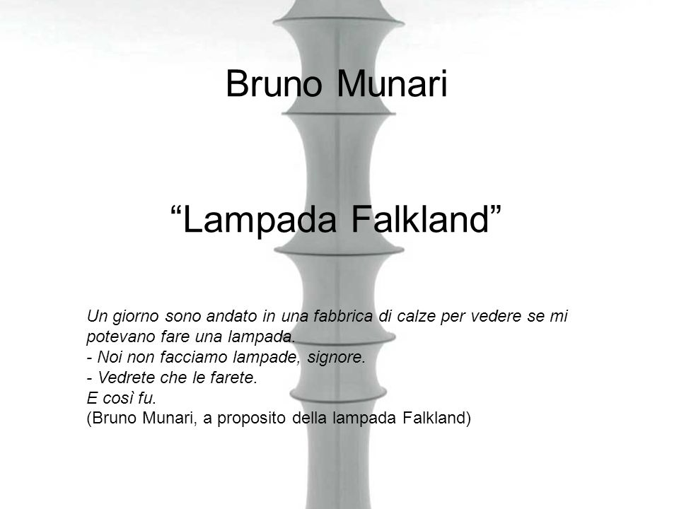 Bruno Munari Lampada Falkland