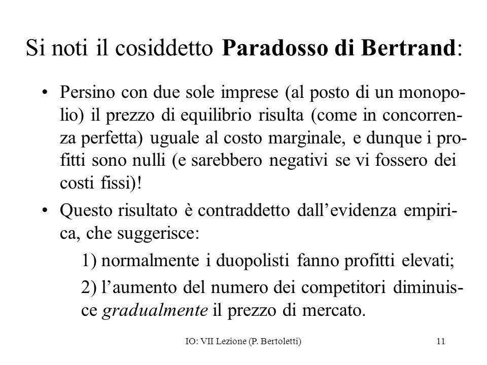 Si noti il cosiddetto Paradosso di Bertrand: