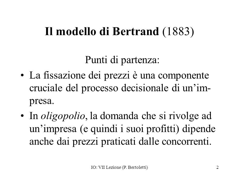 Il modello di Bertrand (1883)