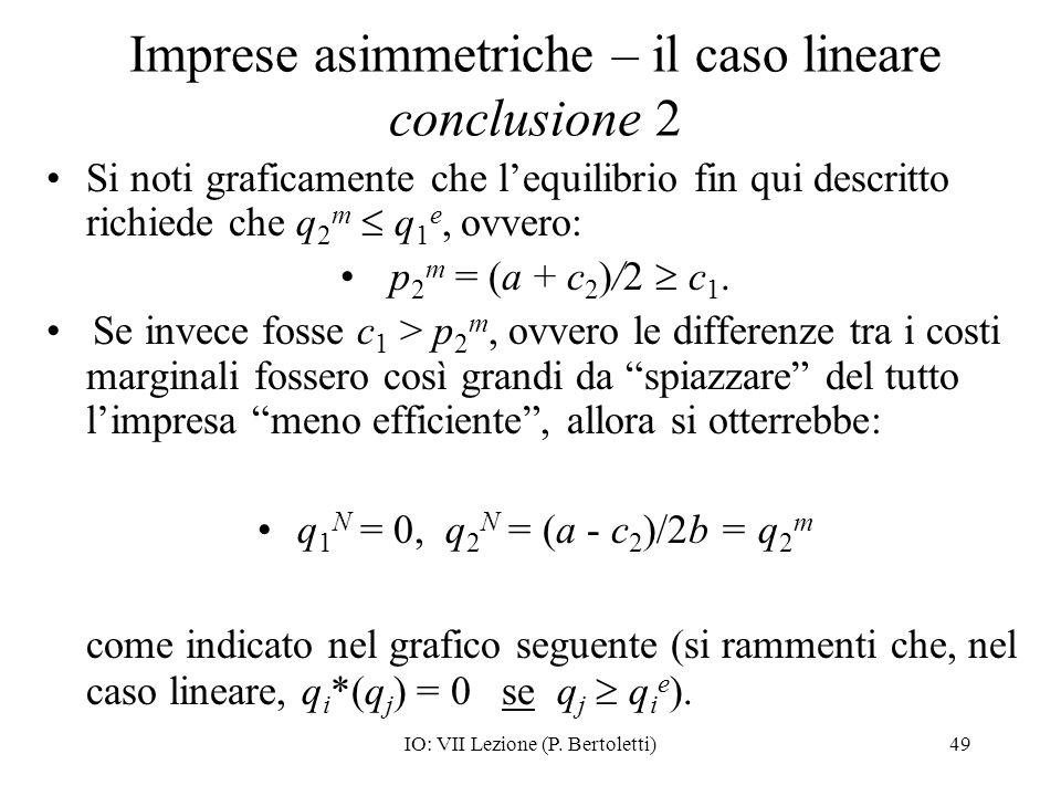 Imprese asimmetriche – il caso lineare conclusione 2