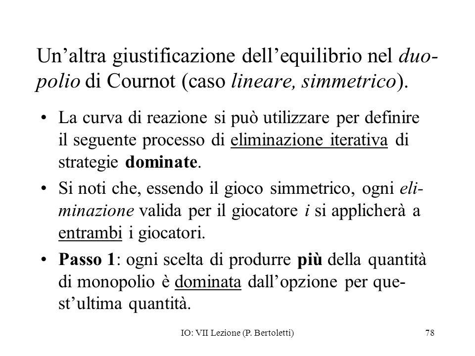 IO: VII Lezione (P. Bertoletti)