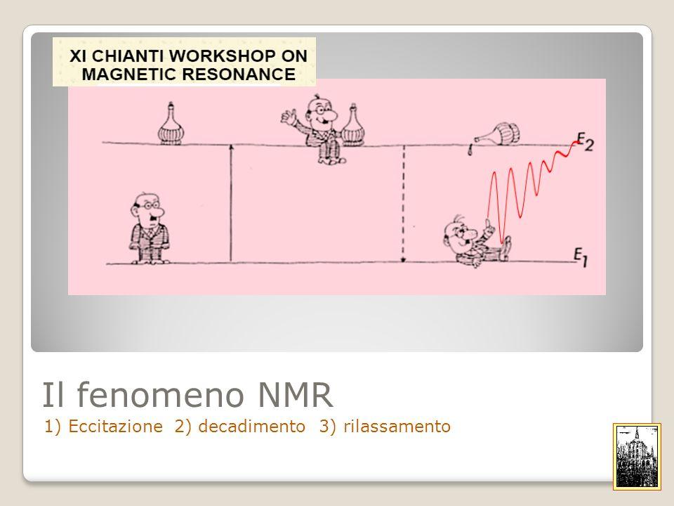 Il fenomeno NMR 1) Eccitazione 2) decadimento 3) rilassamento