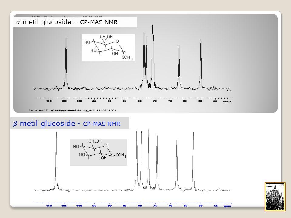 b metil glucoside - CP-MAS NMR