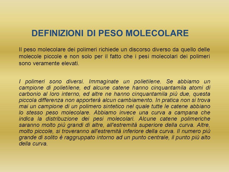 DEFINIZIONI DI PESO MOLECOLARE