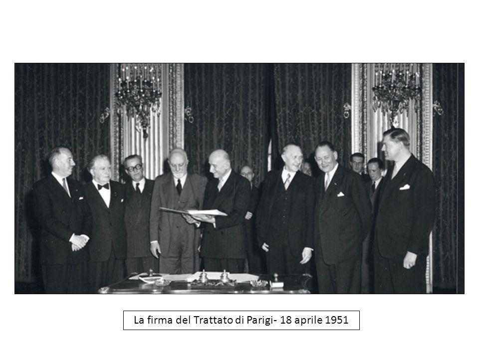 La firma del Trattato di Parigi- 18 aprile 1951