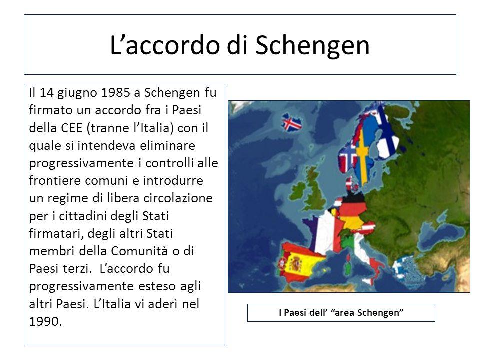 I Paesi dell' area Schengen
