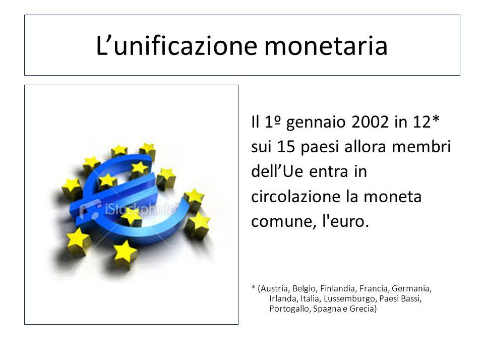 L'unificazione monetaria