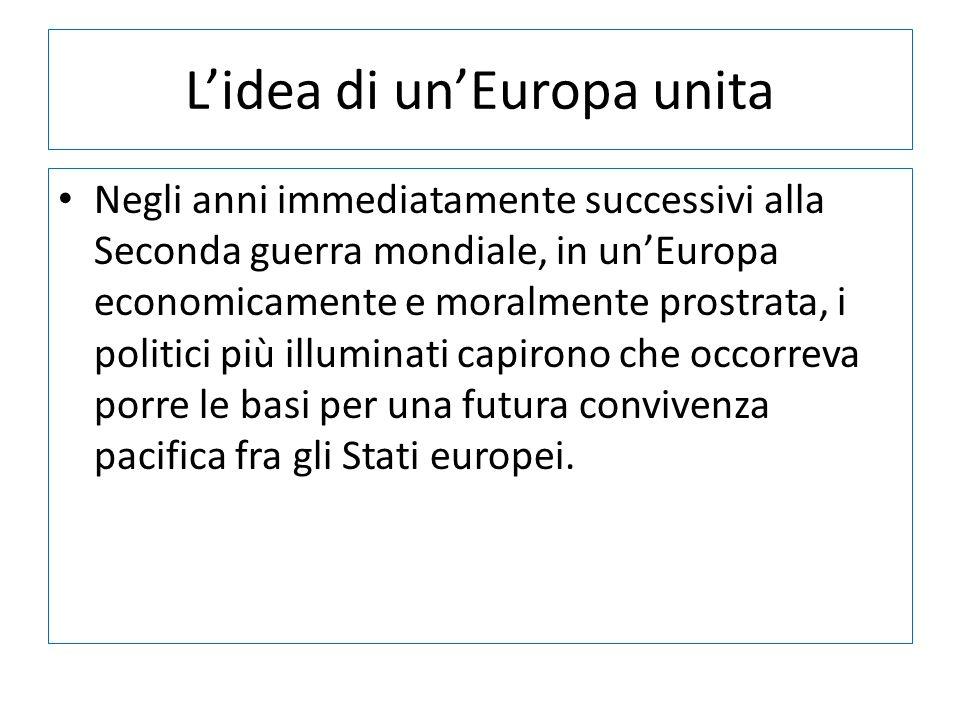 L'idea di un'Europa unita