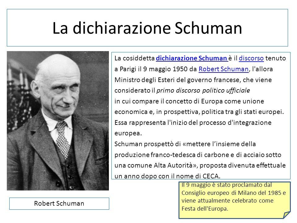 La dichiarazione Schuman
