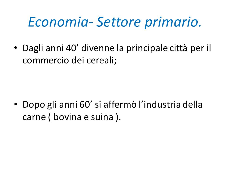 Economia- Settore primario.