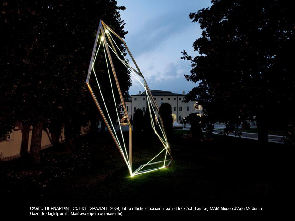 CARLO BERNARDINI, CODICE SPAZIALE 2009, Fibre ottiche e acciaio inox, mt h 6x2x3. Twister, MAM Museo d'Arte Moderna,