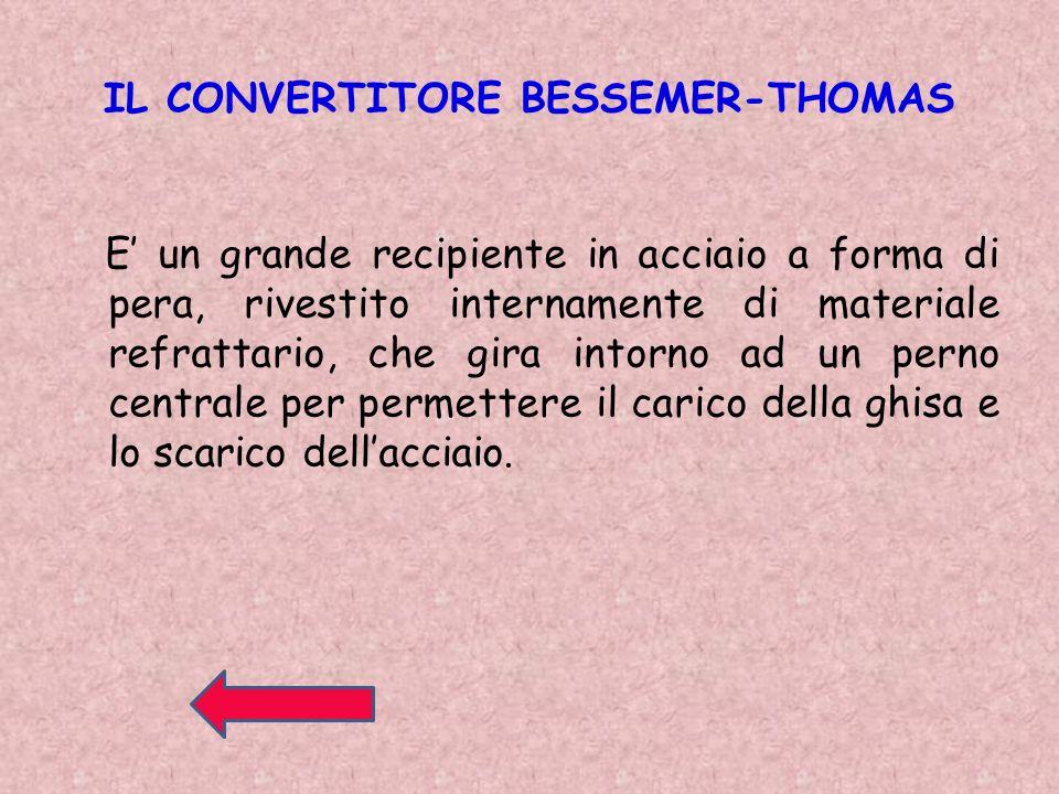 IL CONVERTITORE BESSEMER-THOMAS