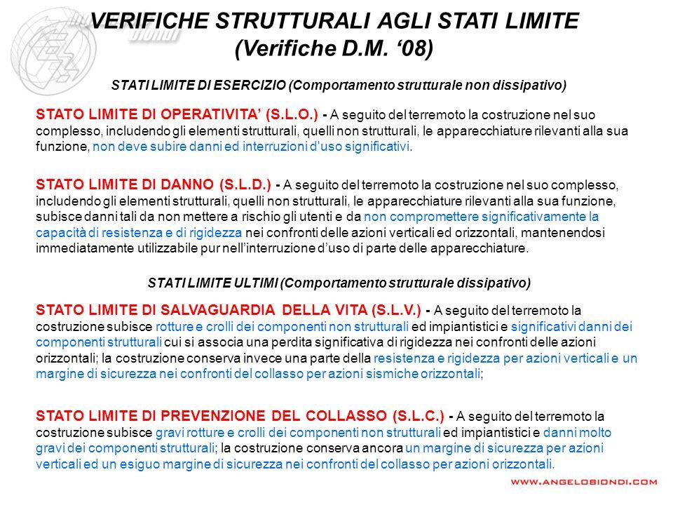 VERIFICHE STRUTTURALI AGLI STATI LIMITE (Verifiche D.M. '08)