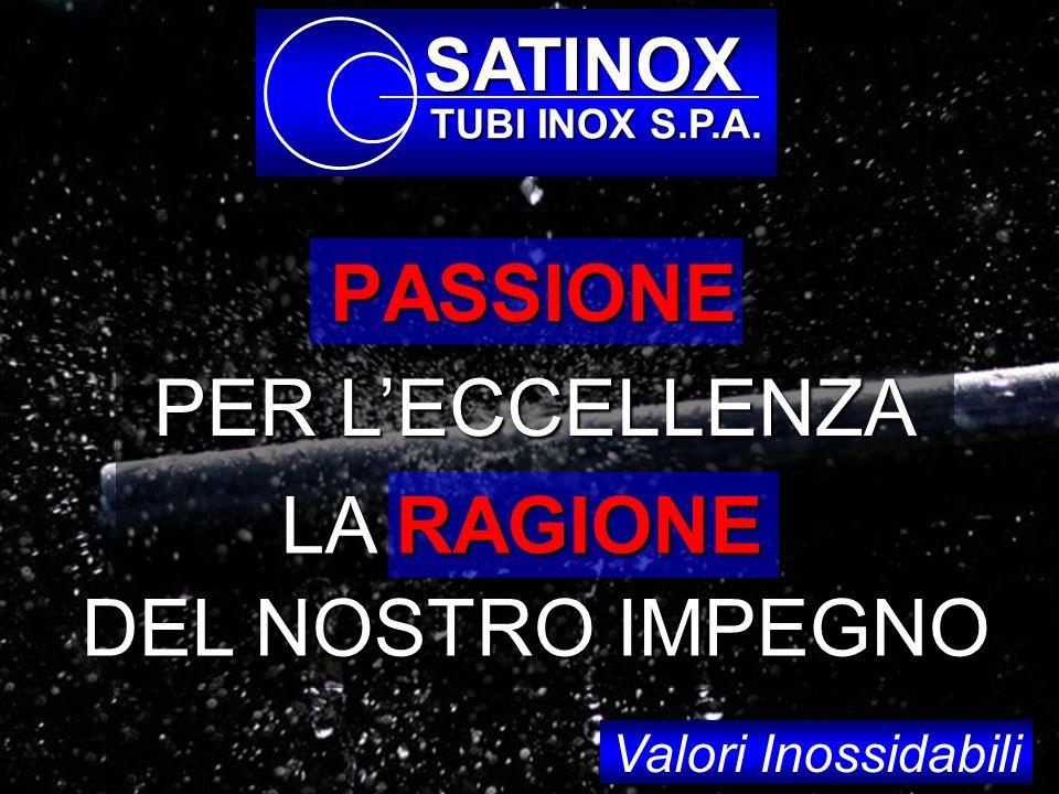 PASSIONE PER L'ECCELLENZA LA RAGIONE DEL NOSTRO IMPEGNO SATINOX
