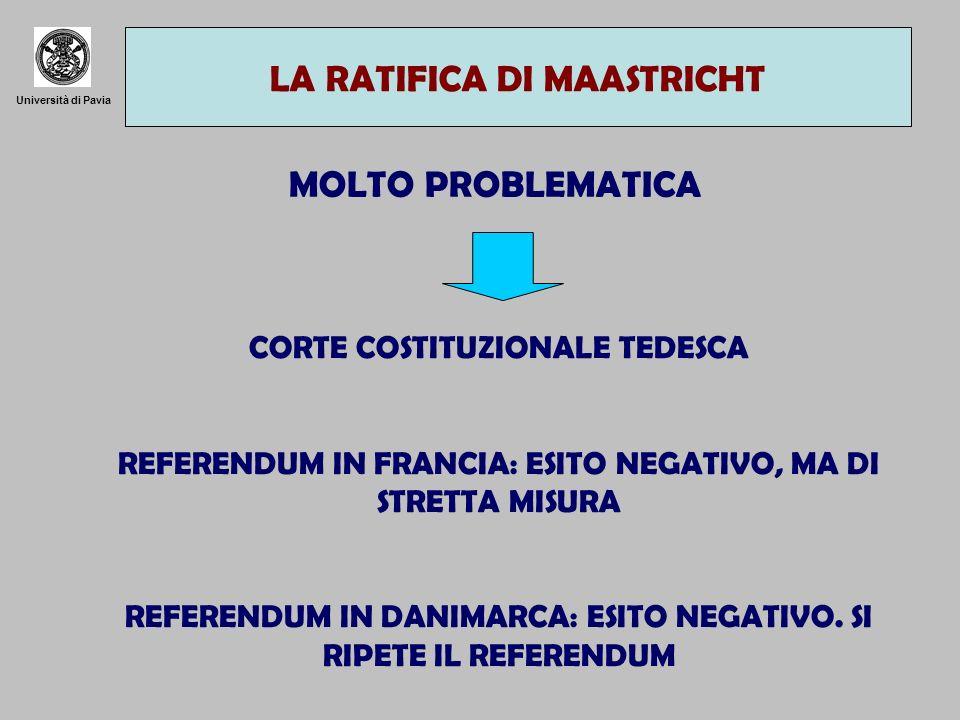 LA RATIFICA DI MAASTRICHT