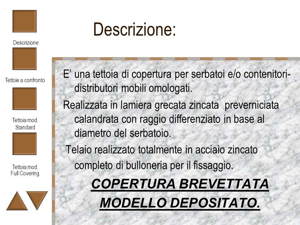 Descrizione: COPERTURA BREVETTATA MODELLO DEPOSITATO.
