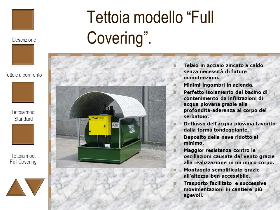 Tettoia modello Full Covering .