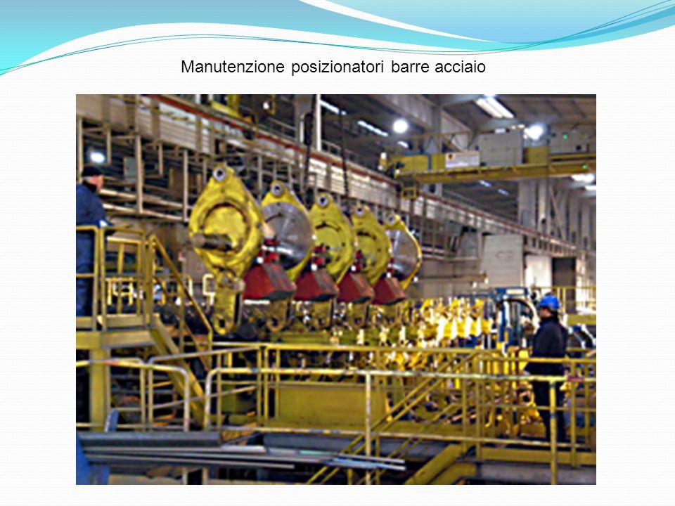 Manutenzione posizionatori barre acciaio