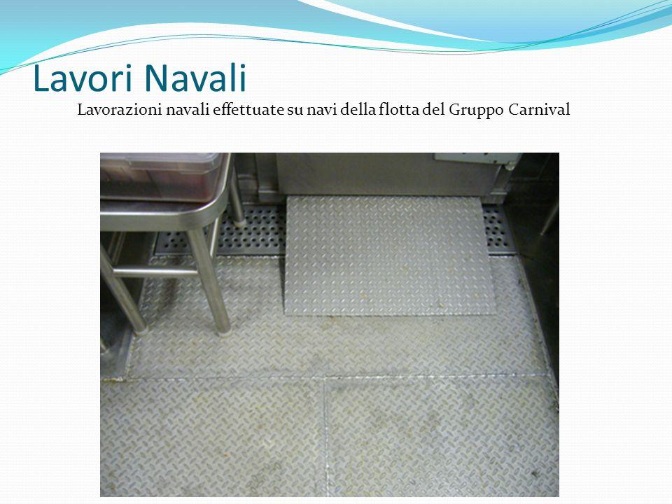 Lavorazioni navali effettuate su navi della flotta del Gruppo Carnival