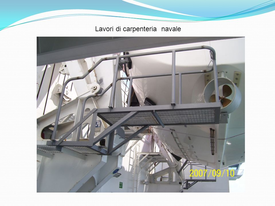Lavori di carpenteria navale
