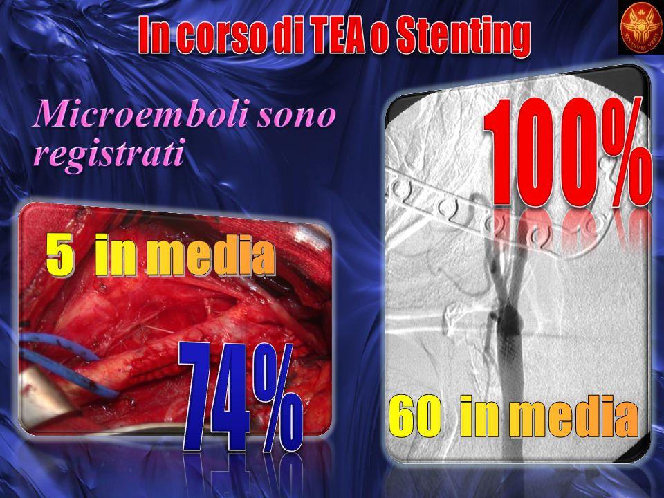 In corso di TEA o Stenting