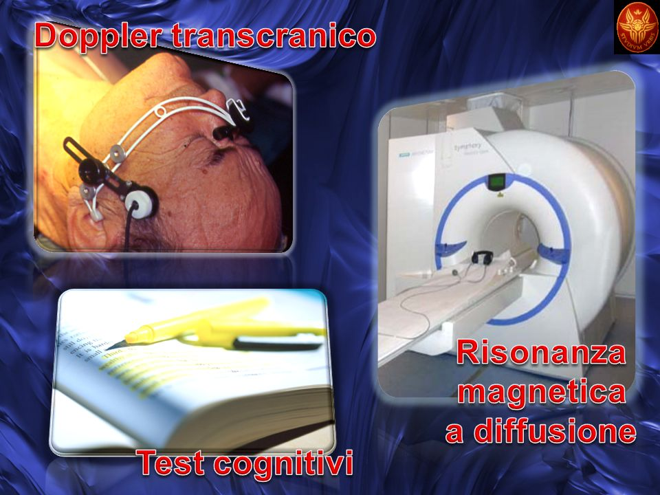 Doppler transcranico Risonanza magnetica a diffusione Test cognitivi