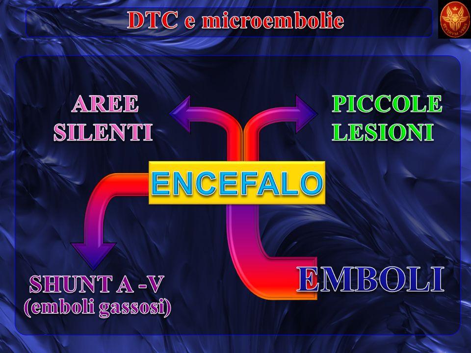 EMBOLI ENCEFALO DTC e microembolie AREE SILENTI PICCOLE LESIONI