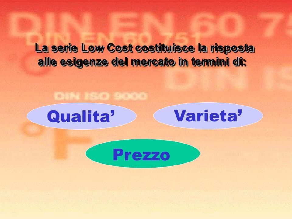 Qualita' Varieta' Prezzo La serie Low Cost costituisce la risposta