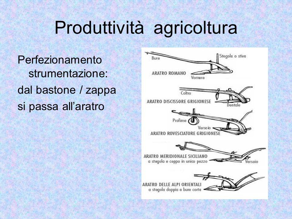 Produttività agricoltura