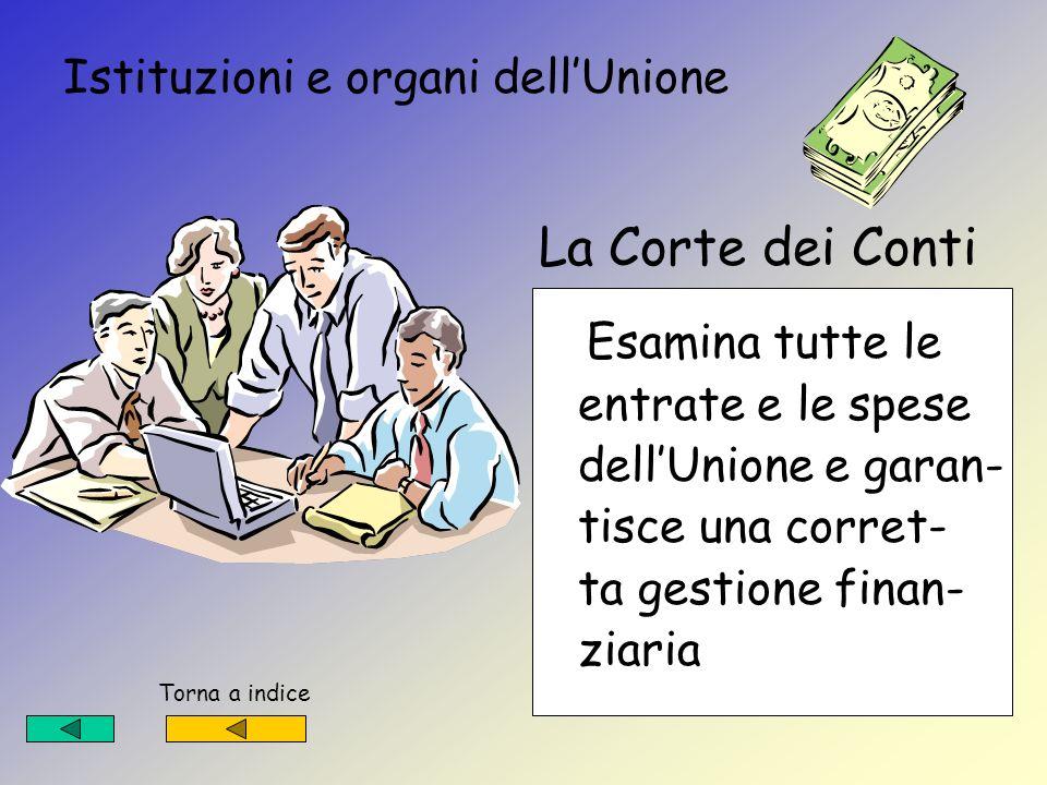 Istituzioni e organi dell'Unione La Corte dei Conti
