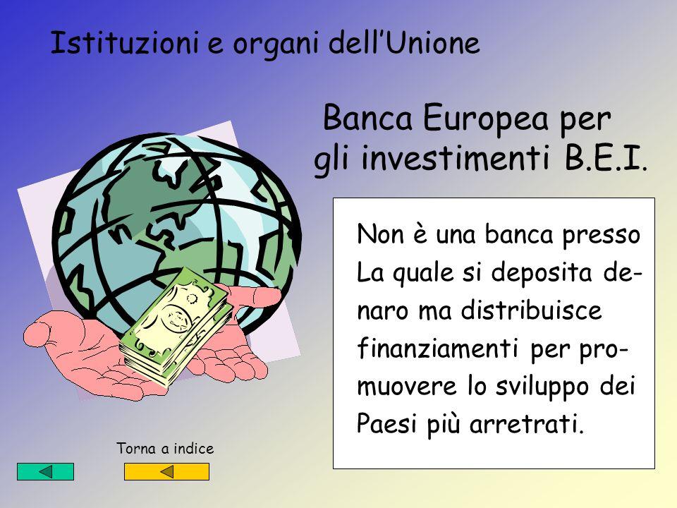 Istituzioni e organi dell'Unione Banca Europea per gli investimenti B