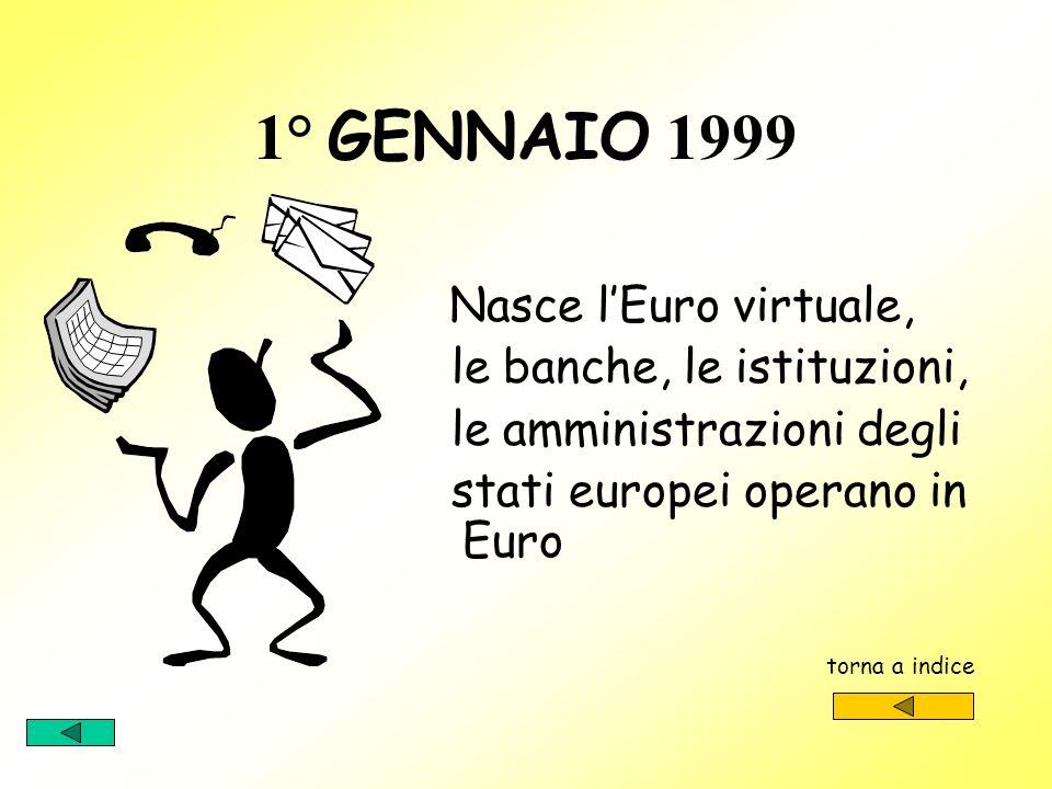 1° GENNAIO 1999 le banche, le istituzioni, le amministrazioni degli