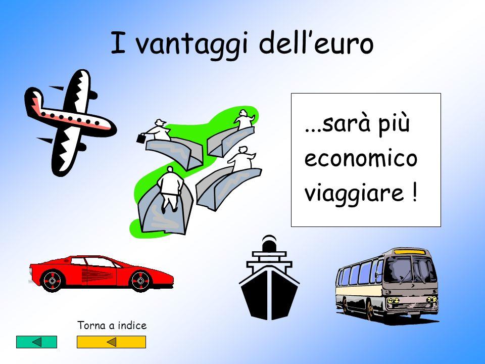 I vantaggi dell'euro ...sarà più economico viaggiare ! Torna a indice