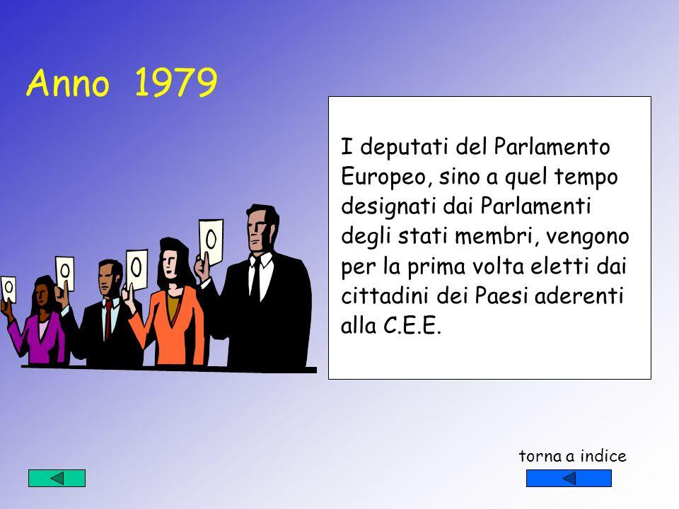 Anno 1979 I deputati del Parlamento Europeo, sino a quel tempo