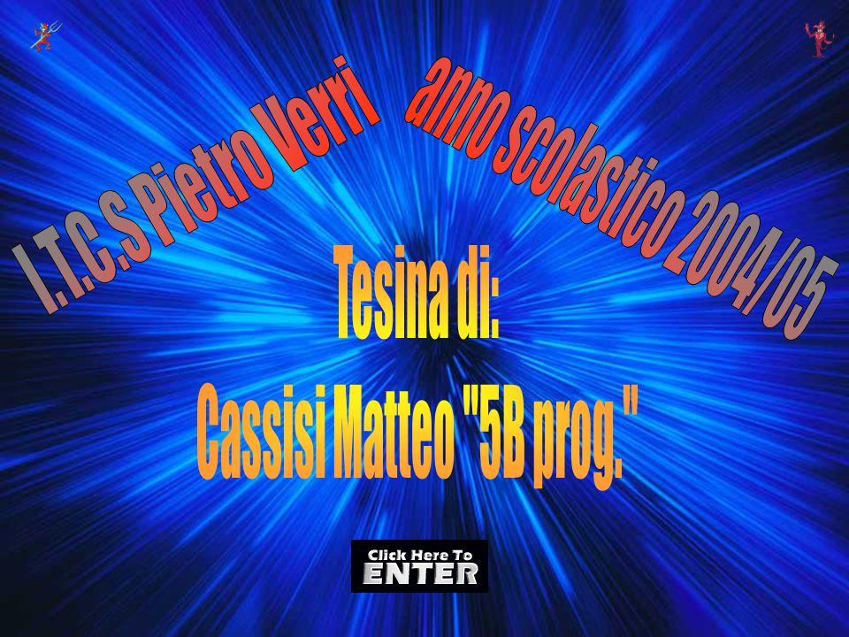 I.T.C.S Pietro Verri anno scolastico 2004/05 Tesina di: Cassisi Matteo 5B prog.
