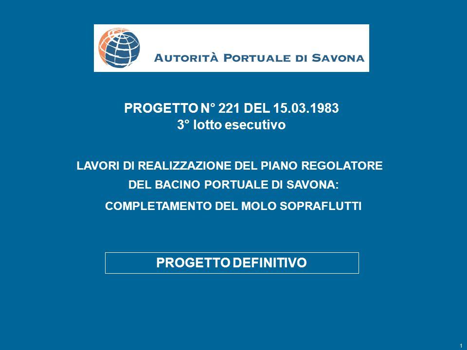 PROGETTO N° 221 DEL 15.03.1983 3° lotto esecutivo PROGETTO DEFINITIVO