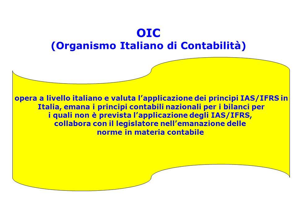 OIC (Organismo Italiano di Contabilità)