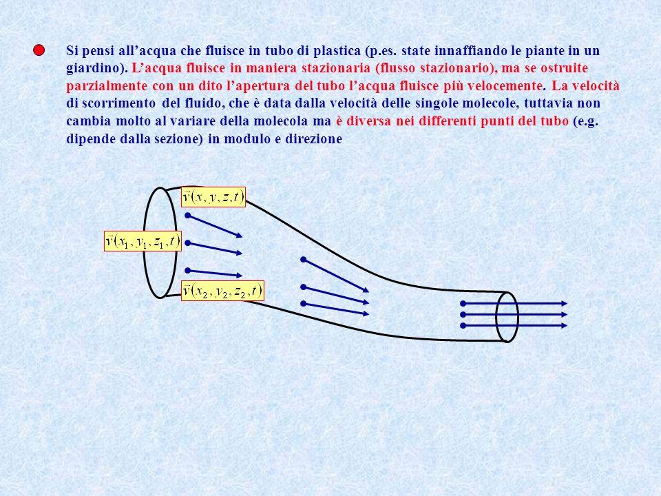 Si pensi all'acqua che fluisce in tubo di plastica (p. es