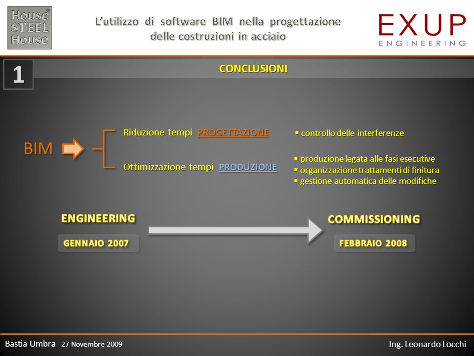 1 BIM CONCLUSIONI ENGINEERING COMMISSIONING