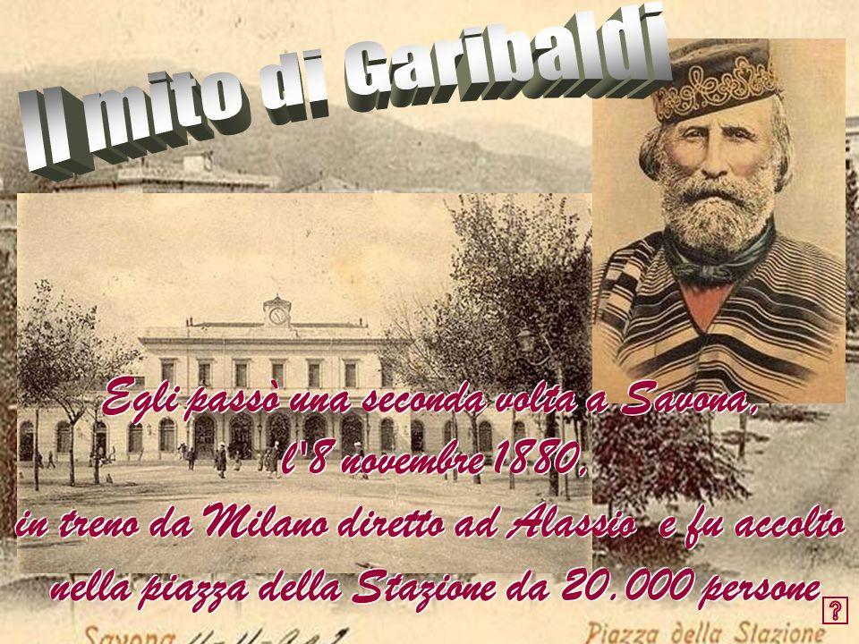 Egli passò una seconda volta a Savona, l 8 novembre 1880,